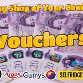 Win £300 Cash Vouchers Only £1 Entry!